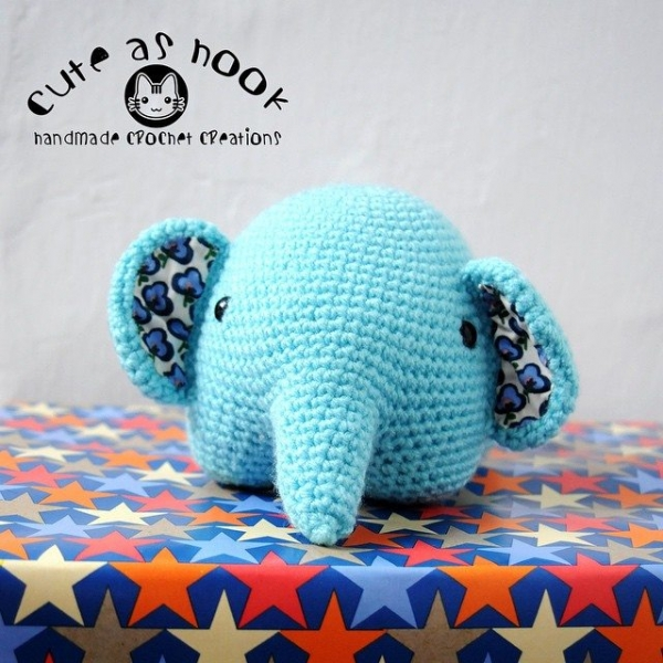 cuteashook crochet elephant 2