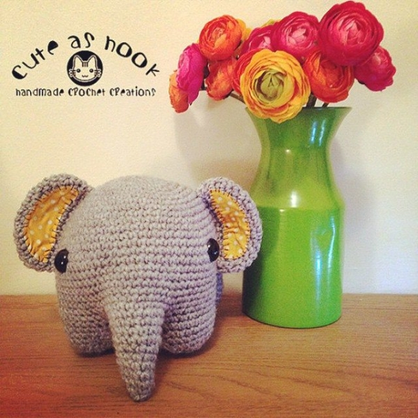 cuteashook crochet elephant