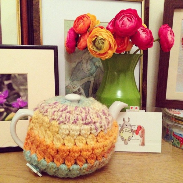 cuteashook crochet teapot cozy