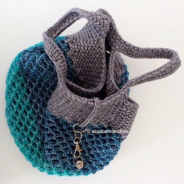 elisabethandree crochet shopper bag