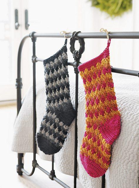 flame stitch crochet stocking