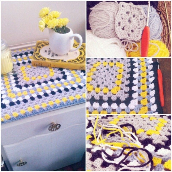 forestflowerdesigns crochet square blanket