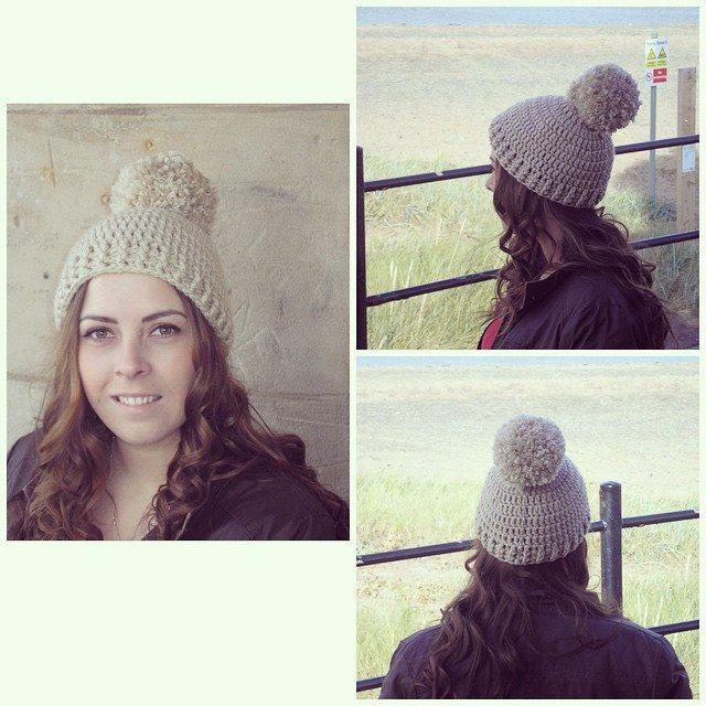 foxyloxy69 crochet hat with pom