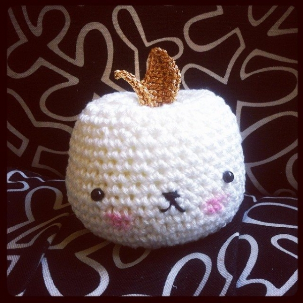 funnyva1entine crochet apple