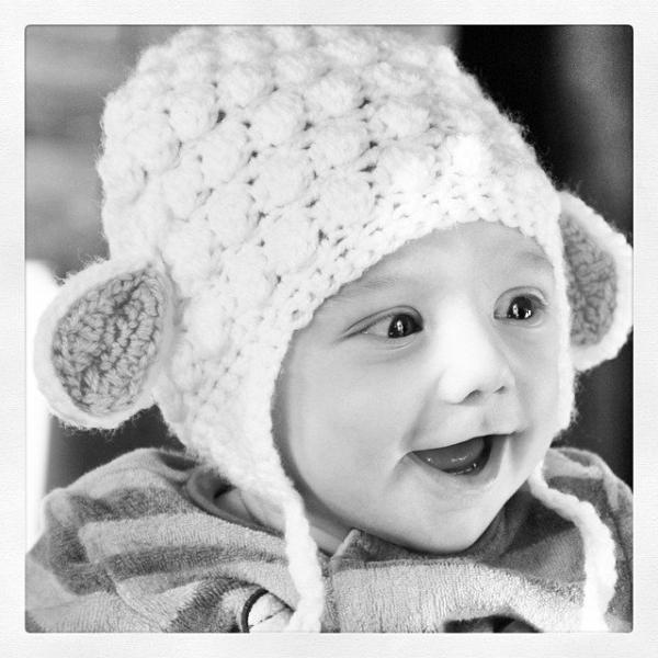 funnyva1entine crochet baby lamb hat