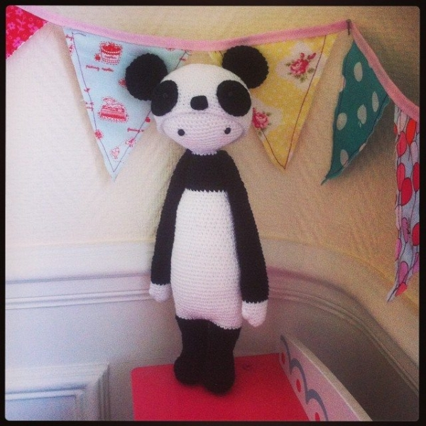 funnyva1entine crochet panda