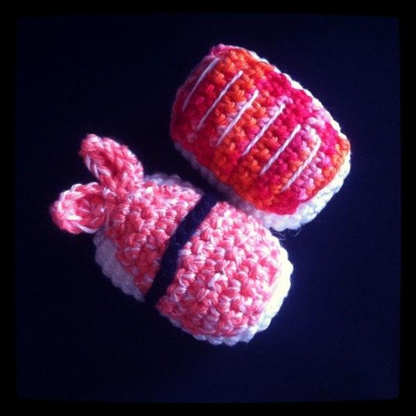 funnyva1entine crochet sushi