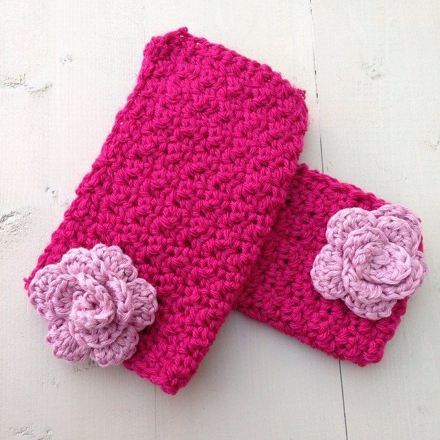 gooseberryfool crochet hand warmers
