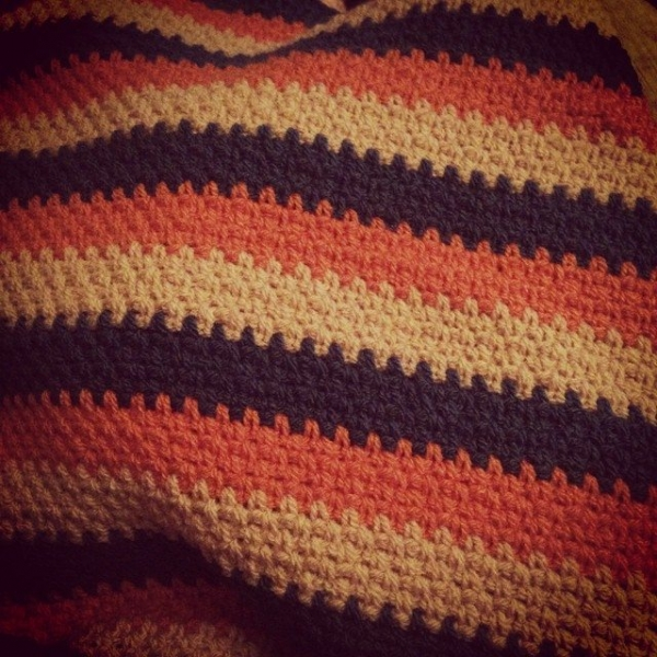 itsjustcrochet retro color crochet blanket