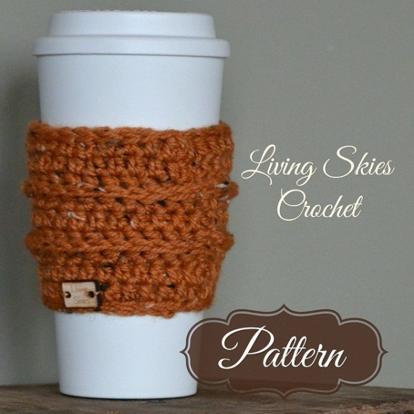 livingskiescrochet crochet coffee cozy