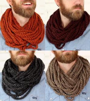 men's croche cowl