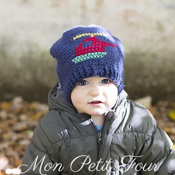 monpetitfour crochet helciopter hat