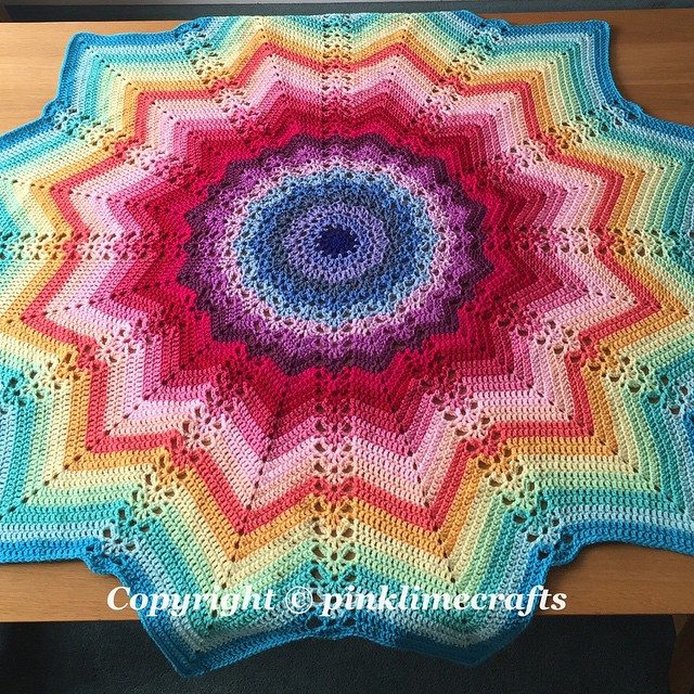 pinklimecrafts crochet ripples