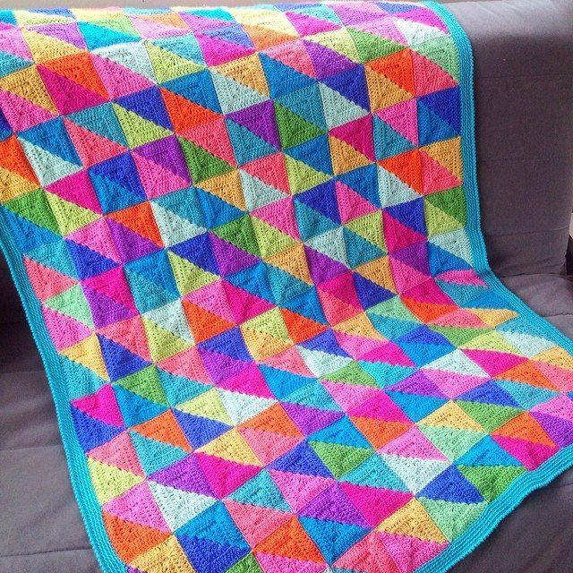poppyandbliss colorful crochet blanket