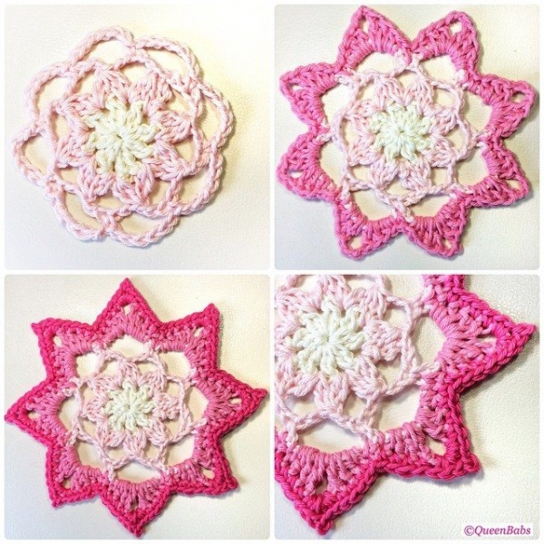 queen_babs crochet flowers