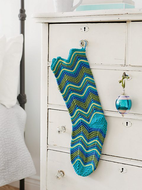 ripple crochet stocking