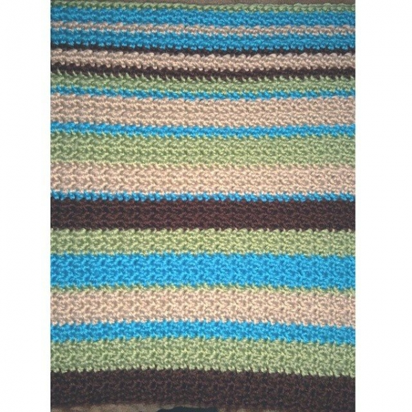 samyaun crochet striped blanket