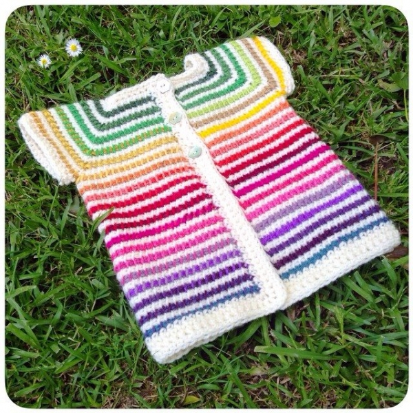 shara_made rainbow crochet jacket