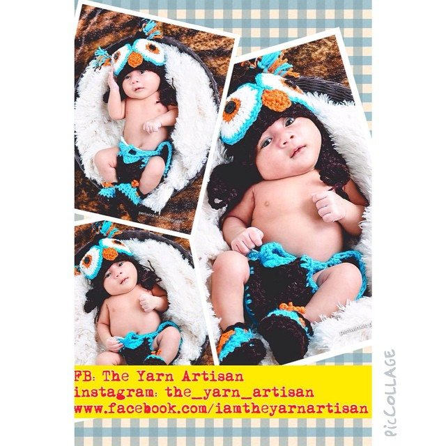 the_yarn_artisan crochet baby owl