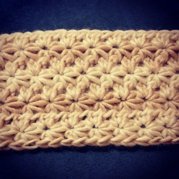 thegirlloves yarn crochet star stitch