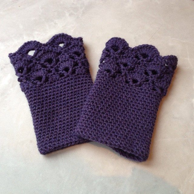 Crocheting Fingerless Gloves : Crocheted Fingerless Gloves Pictures to pin on Pinterest