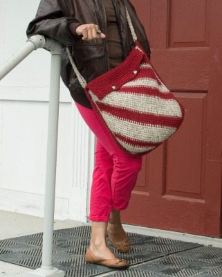 tunisian crochet bag pattern
