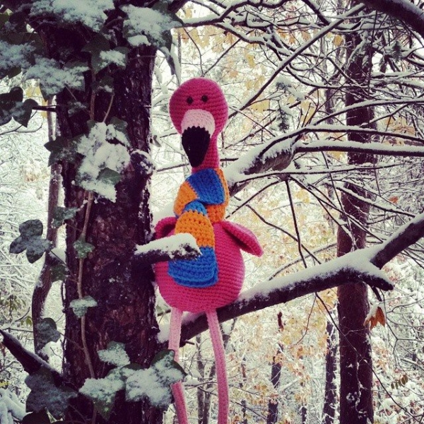 valerieburns crochet flamingo