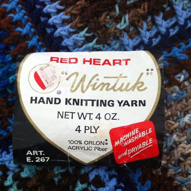 vintage yarn label