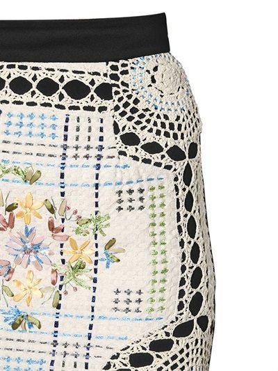 neoprene crochet skirt 2