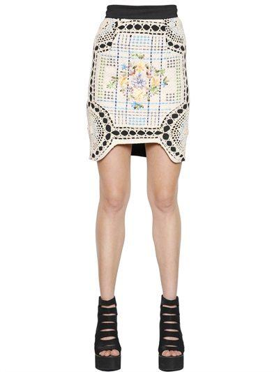 neoprene crochet skirt