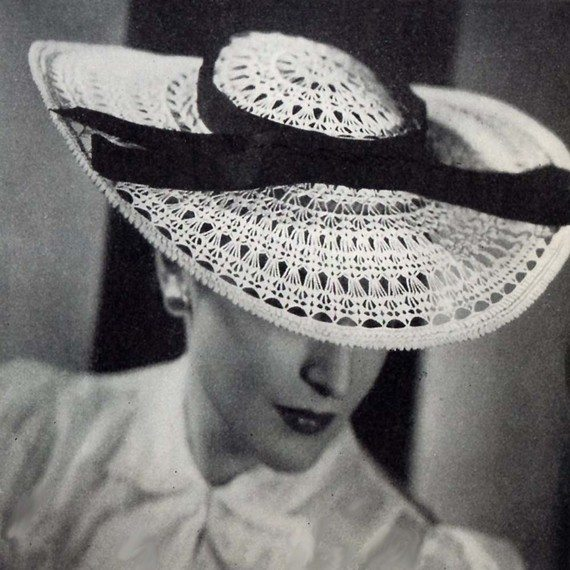1938 crochet hat pattern