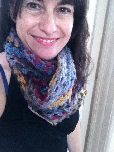 crochet granny cowl