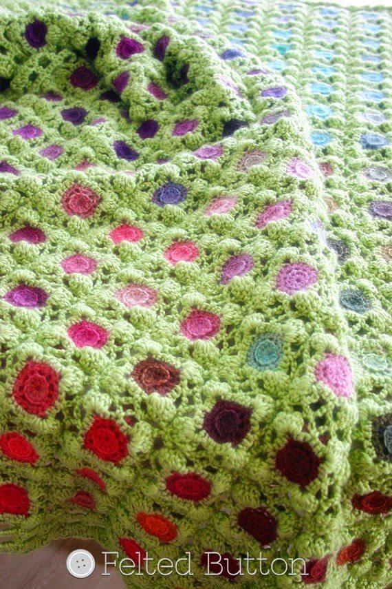 kleurrijke gehaakte deken patroon