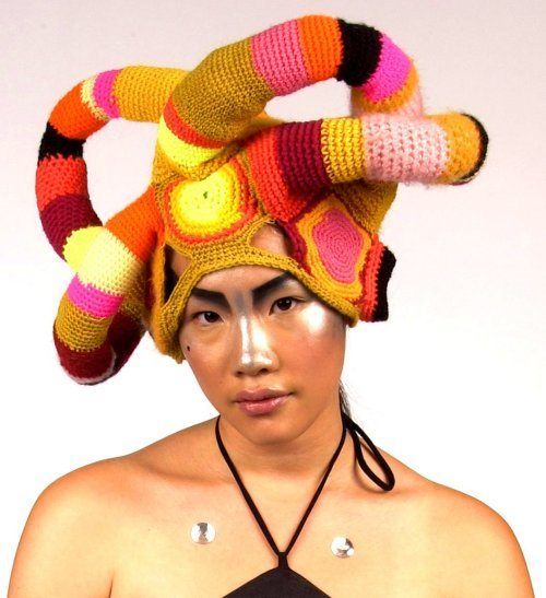 crochet art hat