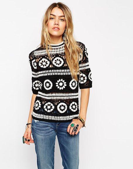 crochet asos shirt