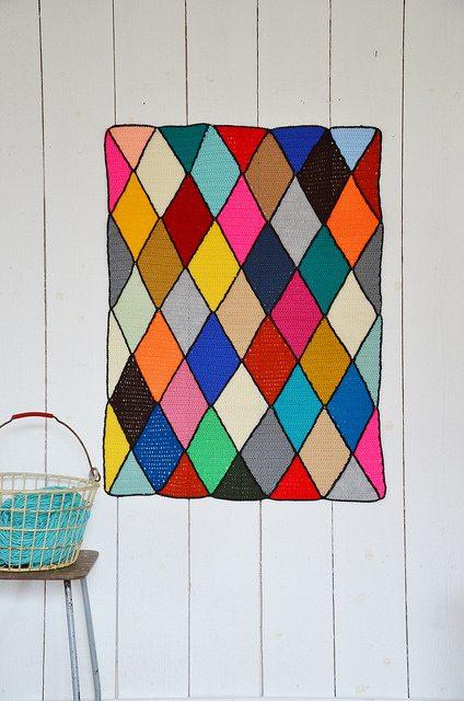 crochet blanket art