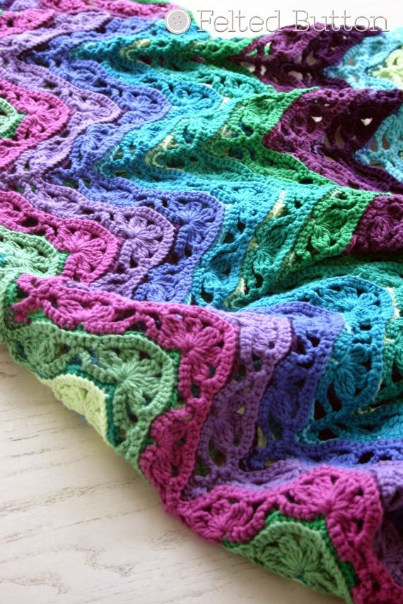 Crochet Patterns Throws : Free crochet blanket pattern @feltedbutton