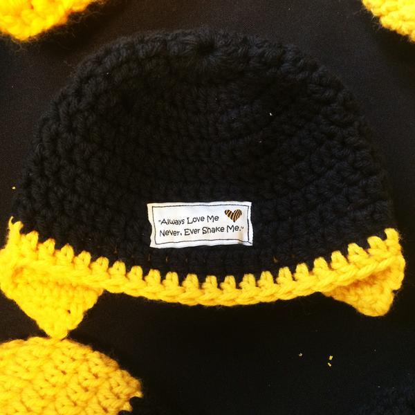 crochet hats for Shaken Baby Syndrome