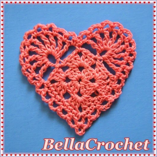 Free Crochet Pattern Heart Motif : 20+ Crochet Heart Patterns for Valentines Day and Beyond