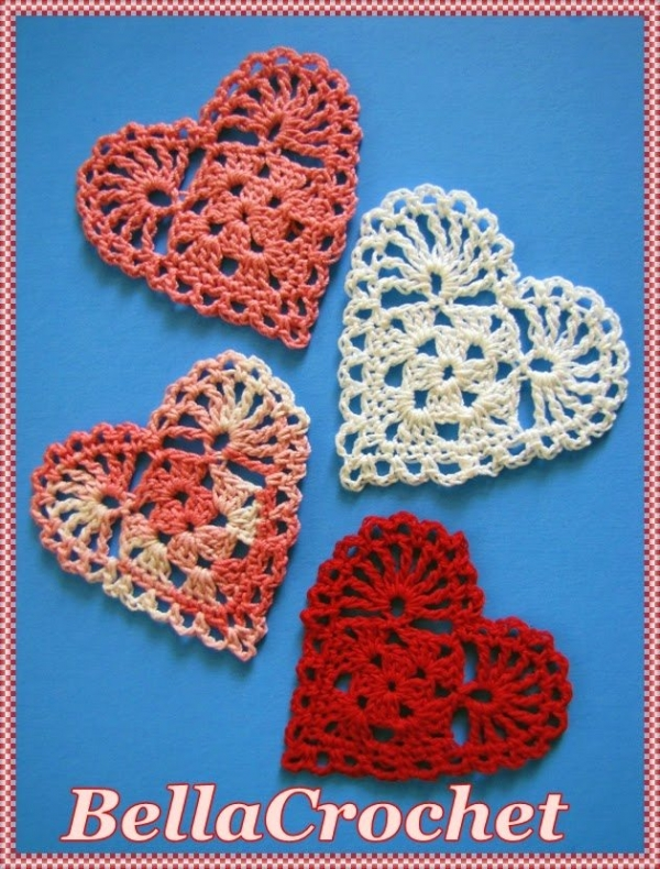 ... also used this pattern to create crochet hearts mobile free pattern
