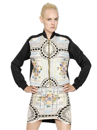 crochet jacket and skirt
