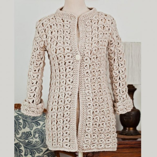 crochet lace cardigan pattern