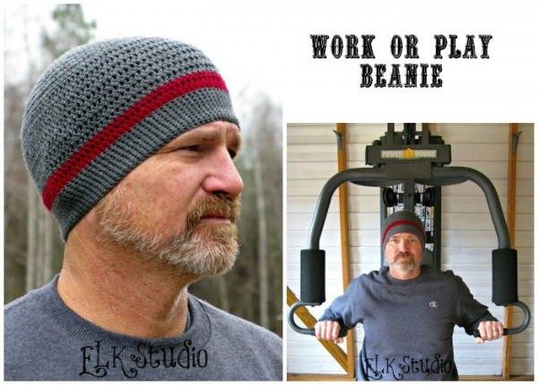 free crochet hat pattern for men