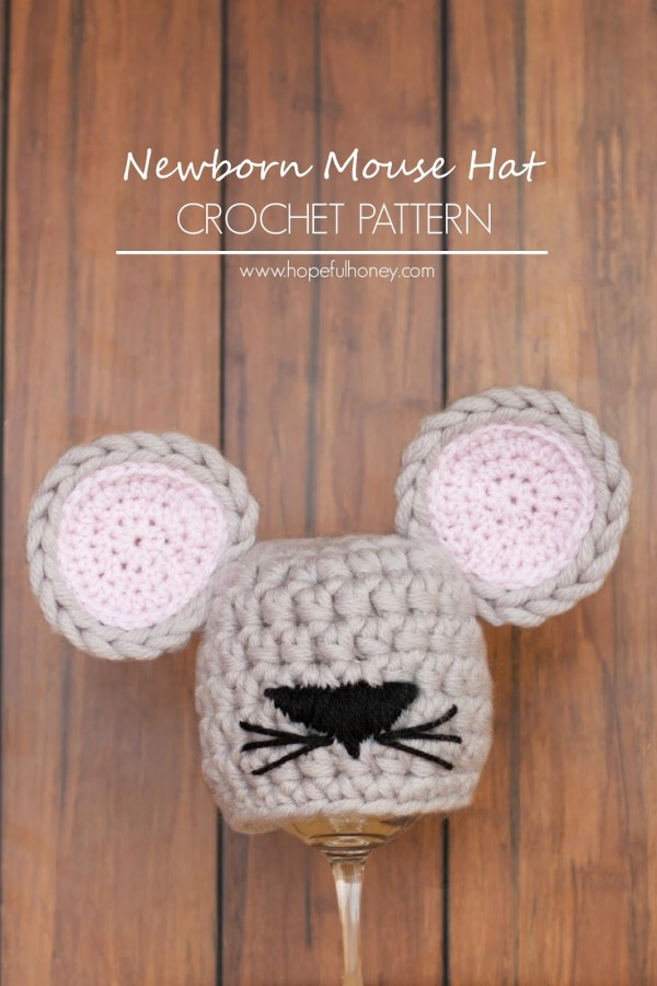 crochet mouse hat free pattern