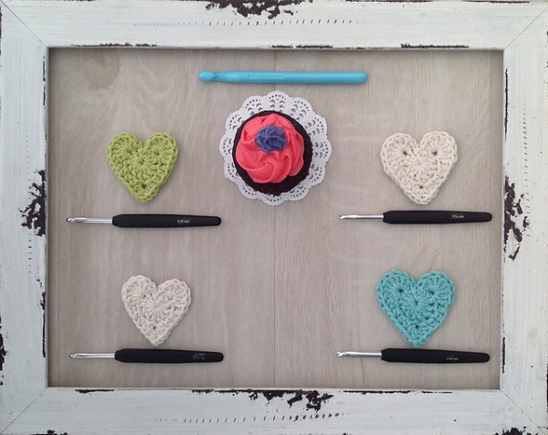 crochet pattern hearts