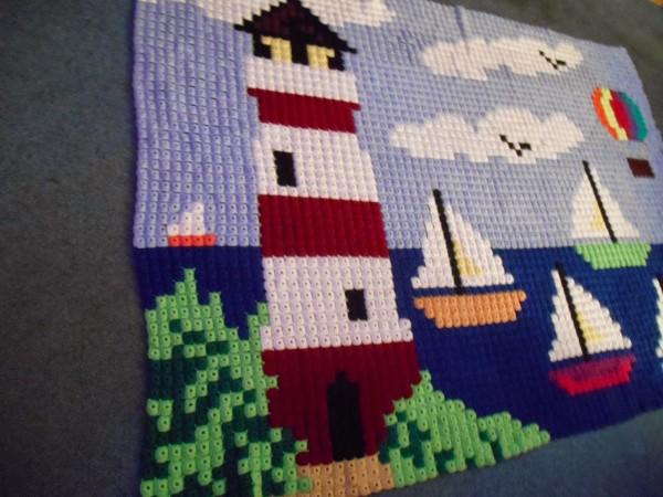 crochet pixel blanket