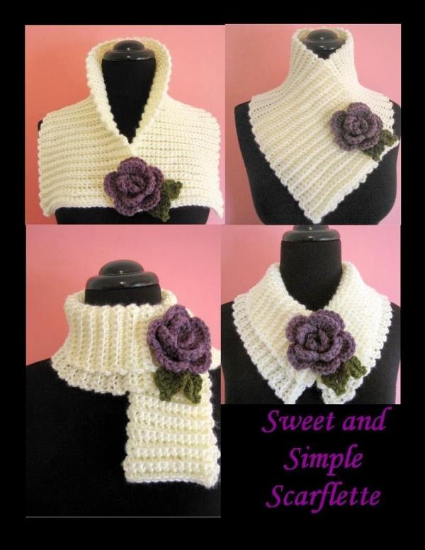Haak scarflette patroon