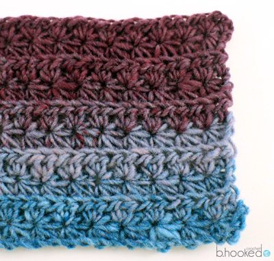 Crochet star stitch tutorial from @bhookedcrochet