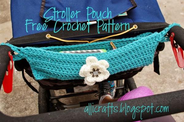 crochet stroller pouch pattern