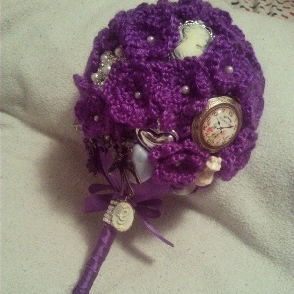 crochetbyshelby crochet wedding bouquet